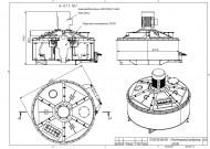 Тарільчасто-павукообраний бетонозмішувач СБ-1000