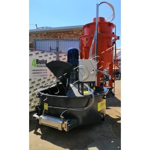 Тарільчасто-павукообразний бетонозмішувач СБ-500