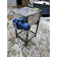 Горизонтальний шнековий змішувач для кормів з нержавіючої сталі СГШ-80