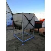 Горизонтальний шнековий змішувач з нержавіючої сталі СГШ-500