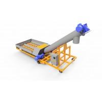 Мобільний шнековий розвантажувач вагонів типу Хопер 30 тонн/год з пультом керування