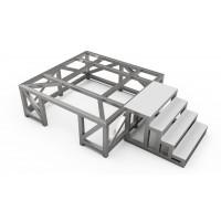 Опорна рама для бетонозмішувача 1 м