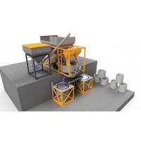 Мобільний бетонний завод 4BUILD COMPACT-20 з виготовлення залізобетонних кілець